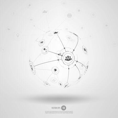 Network background concept. 矢量图像