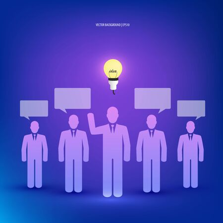 Business people creative idea concept.