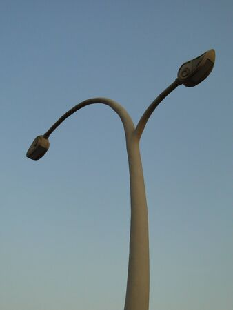 cement pole: flagstaff Stock Photo