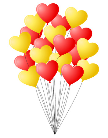 bunch: Bunch of red and yellow balloons