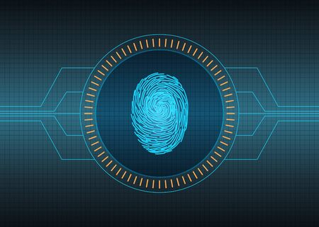 biometric: Biometric technology futuristic background