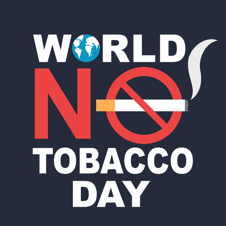 World no tobacco day banner Çizim