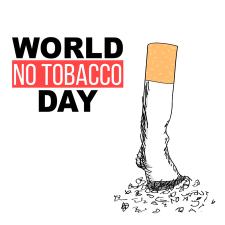 World no tobacco day quitting smoking concept hand drawn illustration