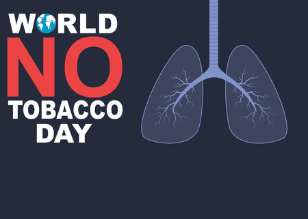 World no tobacco day banner with lungs Иллюстрация