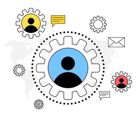 Bedrijfs communicatie concept Stock Illustratie