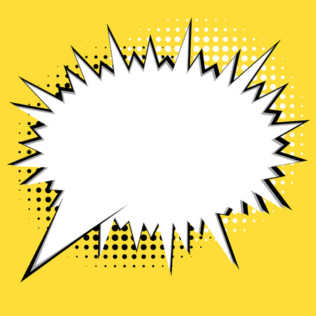 Comic book style exciting speech bubble banner Ilustrace