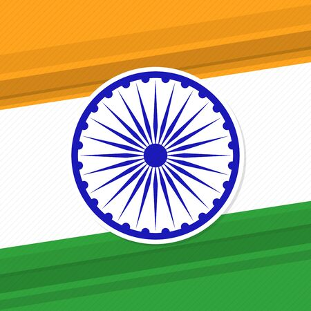 spokes: Indian flag theme patriotic banner. Illustration