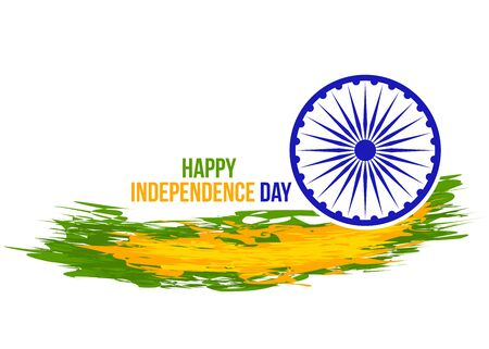 Grunge indian independence day banner.