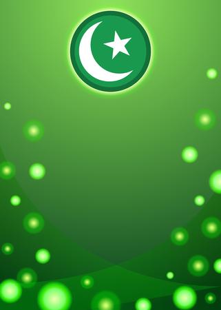 Pakistani flag themed patriotic banner