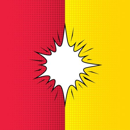 Comic book style red and yellow contrast background