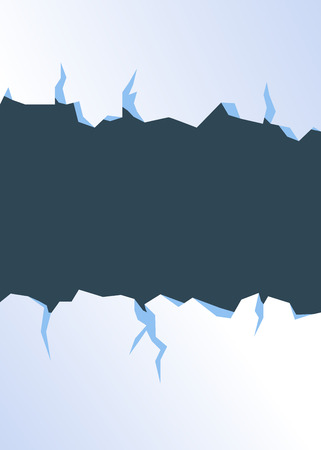 Cracked ice winter themed poster background.