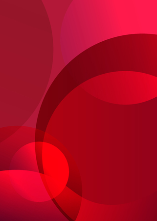 Abstract red background with geometric shapes. Illustration