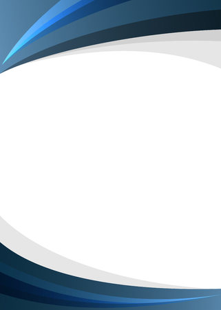 Blue corporate style border on white background Vector illustration.