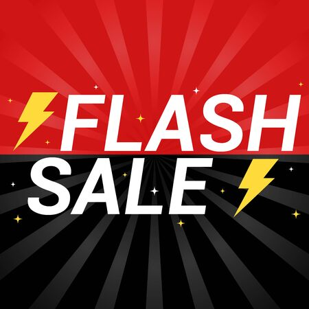 Flash sale red and black banner. 일러스트