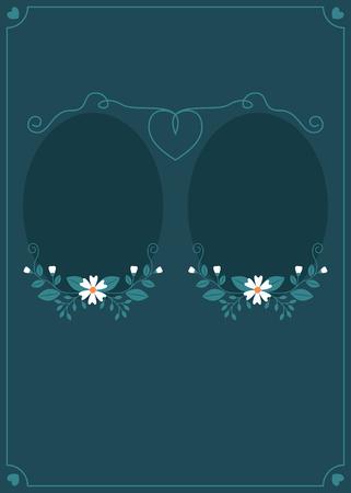 Floral frame blank card Ilustrace
