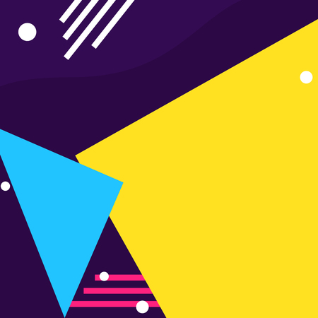 Colorful geometric shapes background Vector illustration.