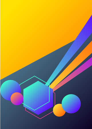 Geometric vibrant abstract background Vector illustration. 向量圖像