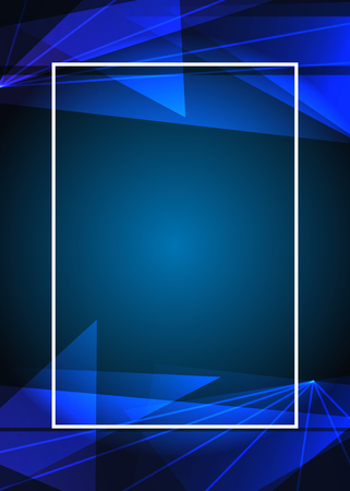 Abstract blue geometric background Vector illustration.