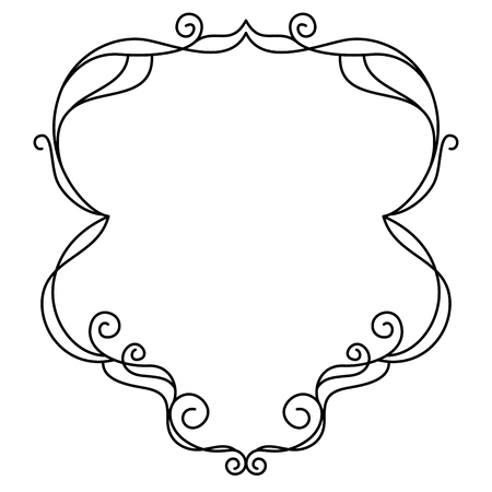 Decorative ornamental black frame Vector illustration. 向量圖像
