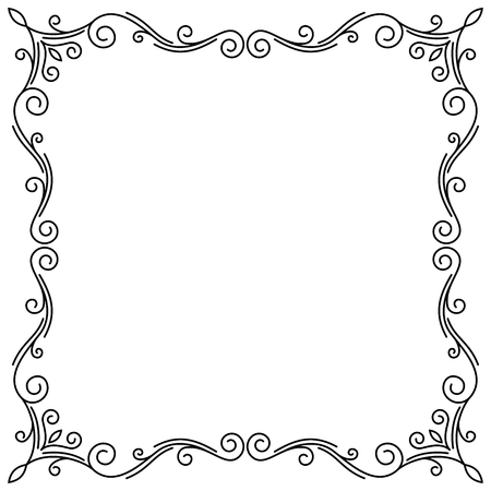 Ornamental decorative frame Vector illustration. 向量圖像