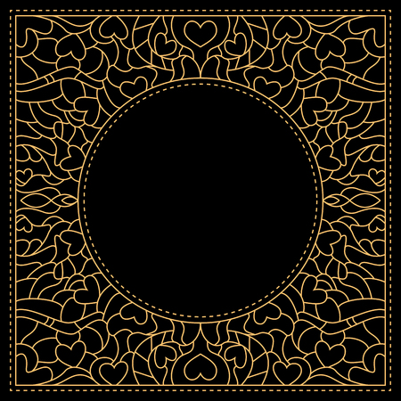 Luxury gold and black card template Vector illustration.