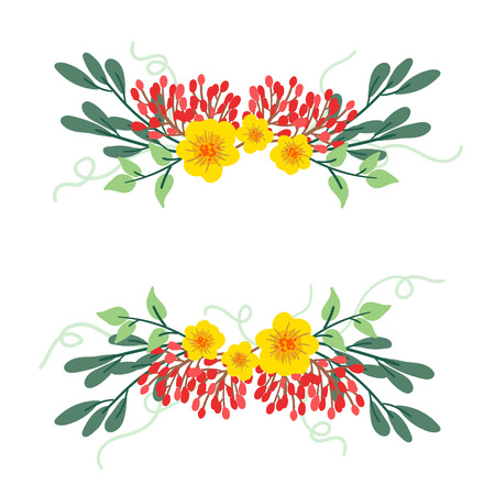 Floral spring frame background 向量圖像