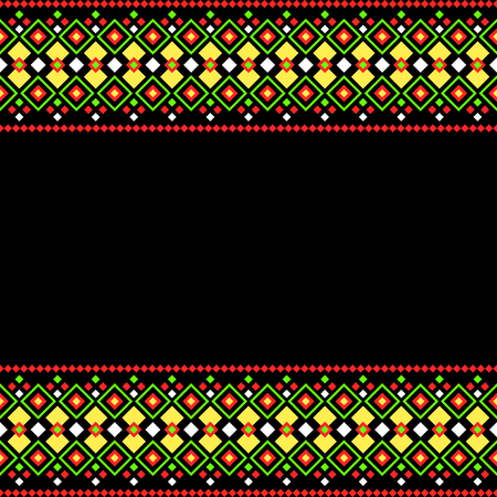 Mexican style decorative border background