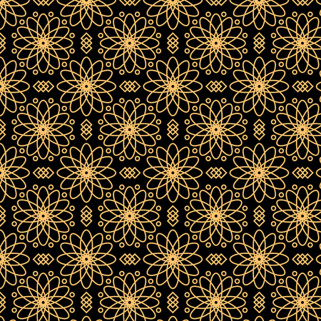 Black and gold luxury seamless pattern 向量圖像