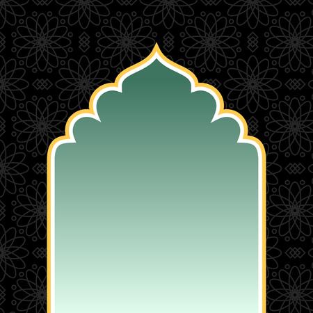 골든 아치와 이슬람 검은 배경 스톡 콘텐츠 - 99448985