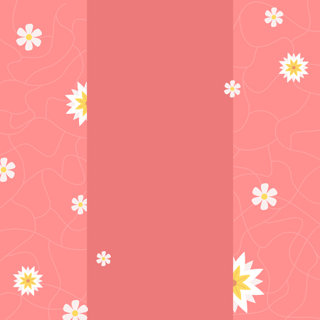 Blank banner with white flowers