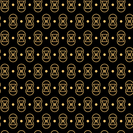 Black and gold geometric shapes luxury seamless pattern