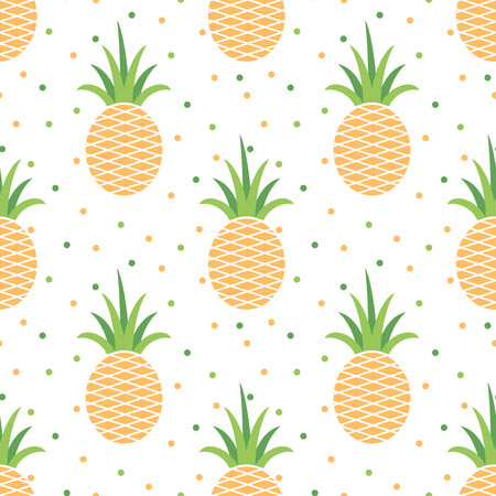 Pineapples seamless pattern 向量圖像