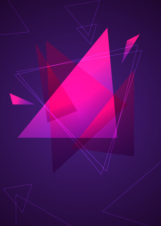 Pink Triangles modern futuristic background 向量圖像