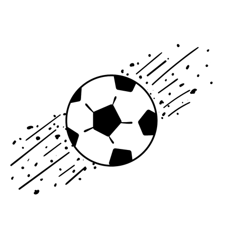 Black and white soccer or football ball drawing