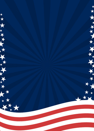 American patriotic poster background in flag colors 向量圖像