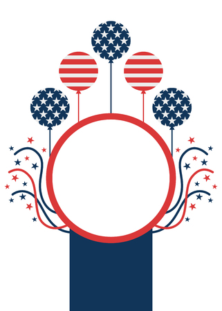 American patriotic event celebration flyer layout