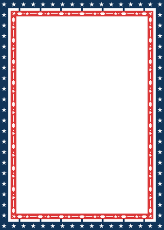 American patriotic decorative frame in flag colors 向量圖像