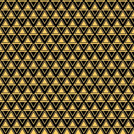 Gold triangle shapes seamless pattern
