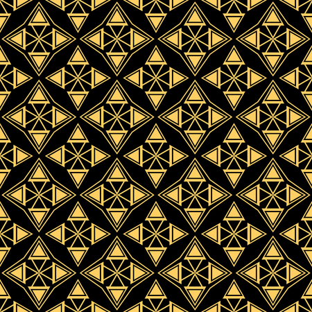 Golden geometric shapes seamless pattern 向量圖像