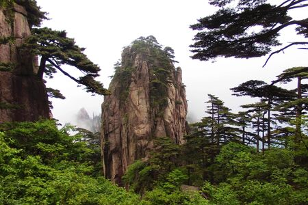 inheritance: One of the world natural and cultural double inheritance in Huangshan, China Stock Photo