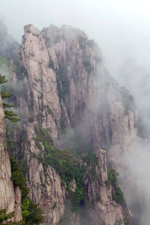inheritance: One of the world natural and cultural double inheritance China Huangshan Stock Photo