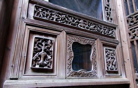 talla en madera: Cierre de la talla en madera Foto de archivo