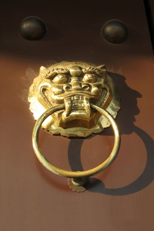 door knocker: ancient door knocker