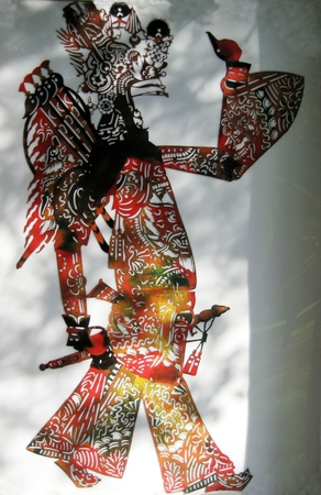 shadow puppets: Shadow puppets in the Beijing Grand View Garden