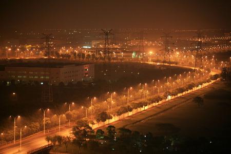 industrial park: Suzhou Industrial Park di notte
