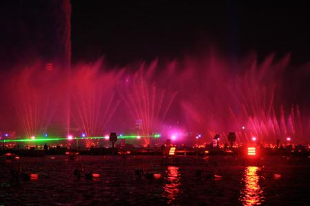 waterscape: Music fountain at the Jinji Lake, Suzhou