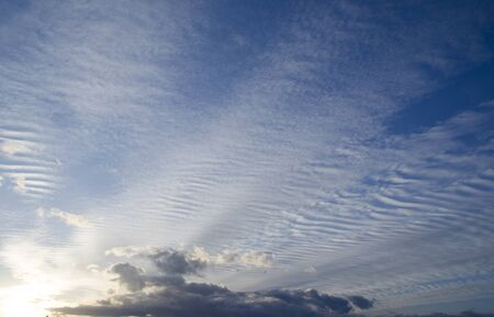gleaming: clouds in the eternal ... Stock Photo
