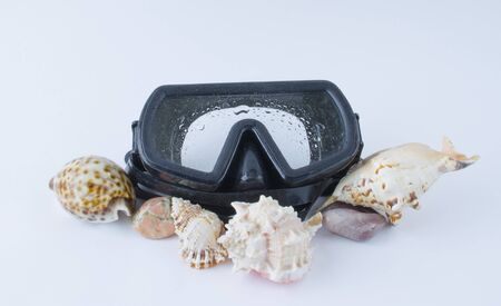 Mask for diving and shells
