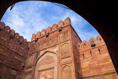 mughal architecture: Amar Singh Gate of Agra Fort Editorial