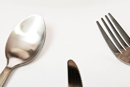 couteau fourchette cuill�re: couteau fork cuill�re dans le tableau. Fond gris